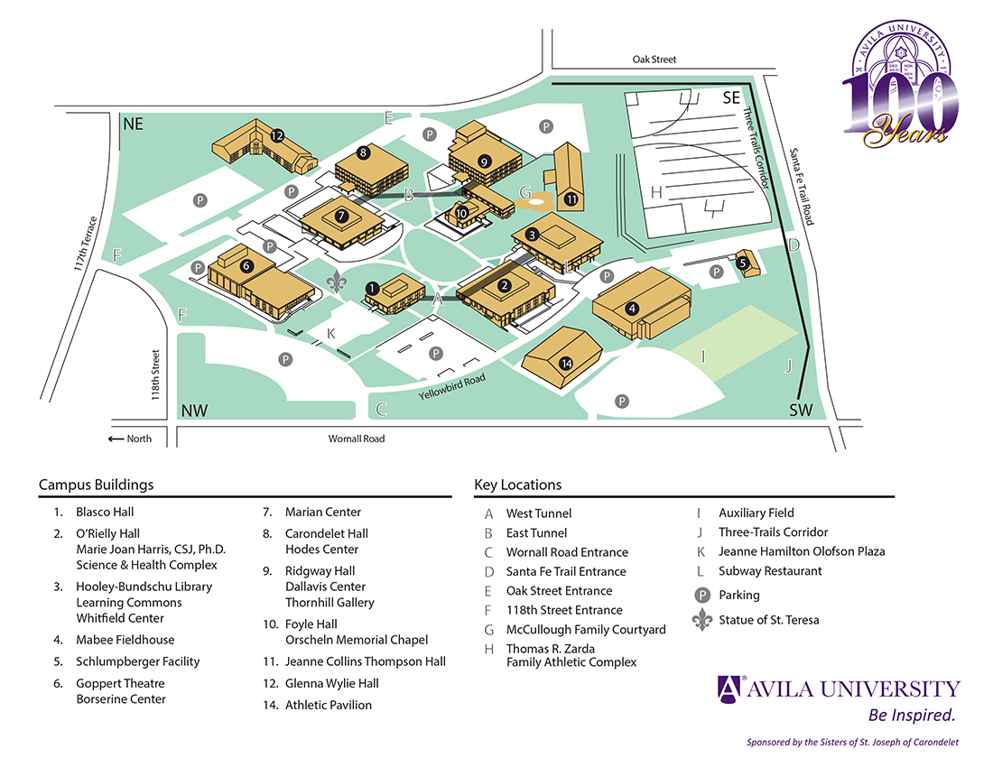 Langston University Campus Map.Administration Graduate Faculty Avila University Acalog Acms