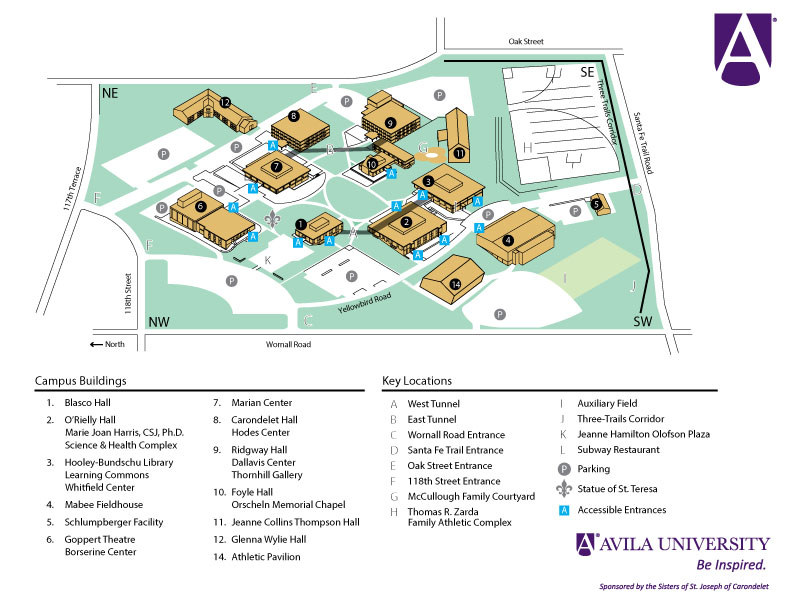 william jewell college campus map Administration Graduate Faculty Avila University Acalog Acms william jewell college campus map
